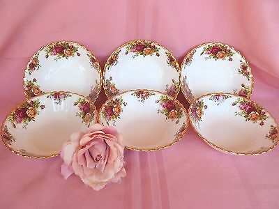 Set~6~Vintage~1st~Quality~c1962~Royal~Albert~Old~Country~Roses~English~Bowls