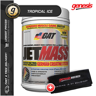 Jetmass by GAT *40 Serve TROPICAL ICE* - Pre and Post Recovery + FREE Towel!