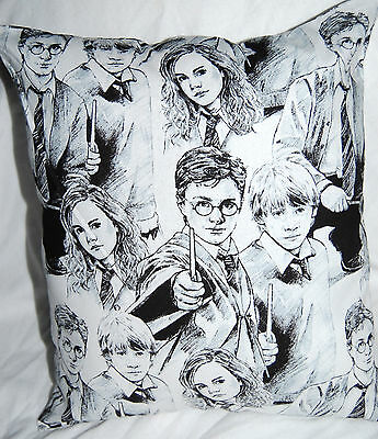 New Handmade Harry Potter Characters Black & White Travel/cuddle/ Car Pillow
