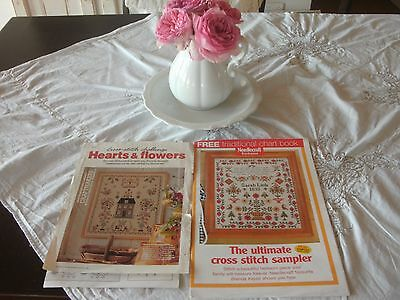 Antique Sampler Cross Stitch Patterns To Reproduce X 2 - Antique Dutch Sampler