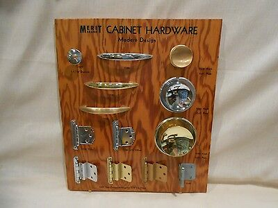 Vintage Salesman Sample Cabinet Hardware MERIT BRAND