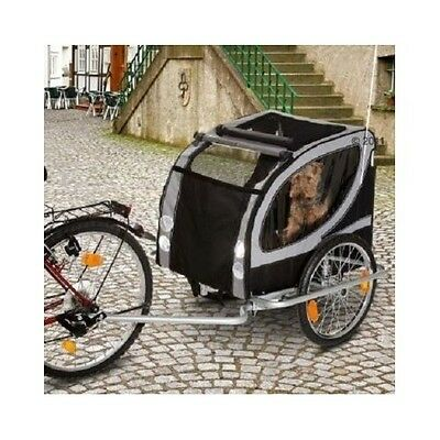 Large Water Resistant Dog Bike Trailer Pet Deluxe Carrier Transport Mobility NEW
