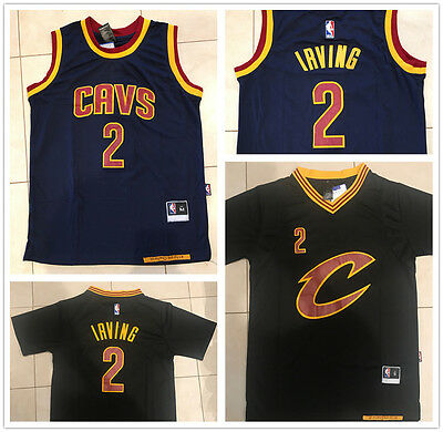 Cleveland Cavaliers NBA Jersey Kyrie Irving #2 NAVY BLUE