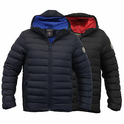 boys jacket Brave Soul coat kids school padded quilted hooded lined winter new