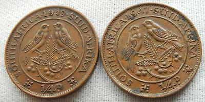 South Africa, 2, 1947/49, Farthing Coins