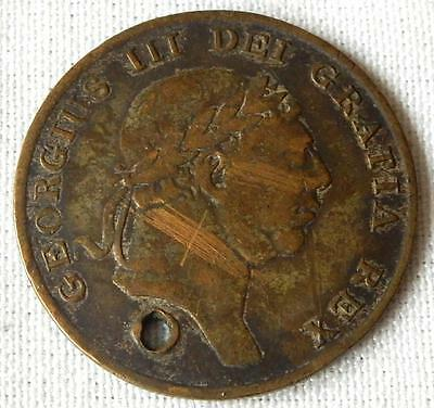 George Iii. 1814, One-Shilling & Sixpence Bank Token. Coin
