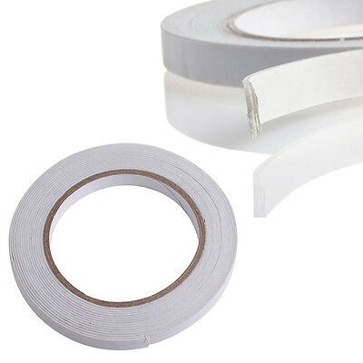 5m Double Sided Strong Sticky Self Adhesive Foam Tape Mounting Fixing Pad White
