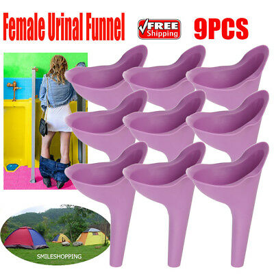 5pc Outdoor Travel Female Urine Lady Urinal Funnel Urination Toilet Silicone USA