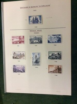 Album Page of French Stamps Ex Old Collection - Mounted Mint.