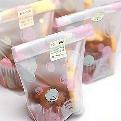 100X 12*20cm Multicolour dot Cookies Packaging Bag Cellophane Flat Pastry Bags