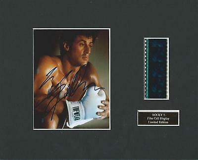 Rocky 3 Film Cell Display Limited Edition Rare