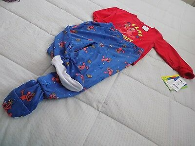 Sesame Street-Infant Boy/girl 2piece PJs-24M-100%Polyester-Made in Cambodia
