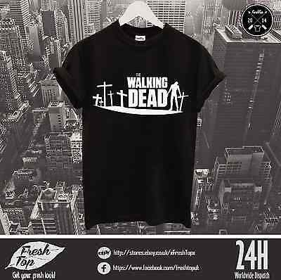 The Walking Dead T Shirt Top Horror Zombies Post-apocalyptic World TV Show Gift