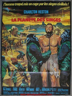 PLANETE DES SINGES Affiche Cinéma / Movie Poster Charlton Heston 160 x 120