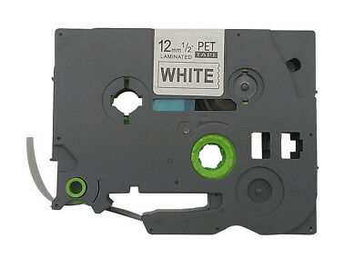 TZ-231 Label Tape Black on White Compatible Brother TZe231 P Touch 12mm  26.2ft