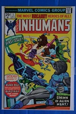 The Inhumans  # 1 : Fine/very Fine : Oct 1975 : Marvel Comics.