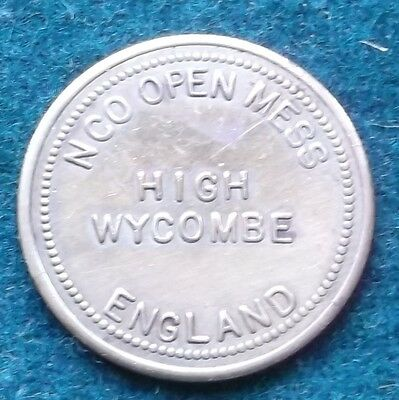 Military Token  U S A  N C O Open Mess High Wycombe England  Number 203