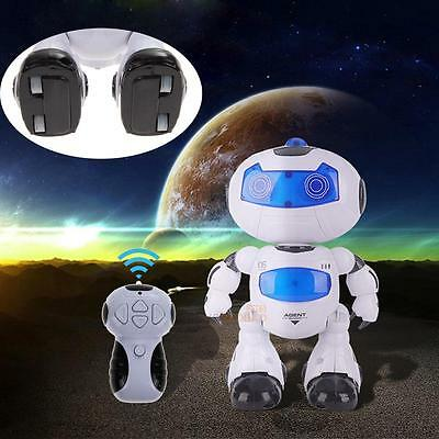 RC Robot Toy Remote Control Musical Electronic Walk Dance Lightenning Robot Gift