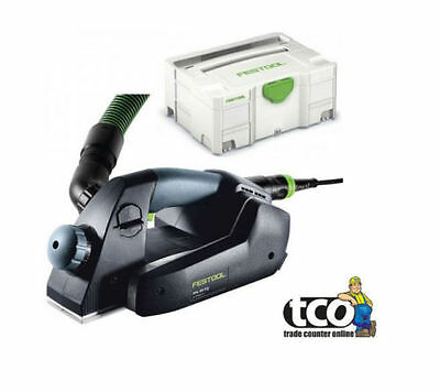 Festool EHL 65 EQ-PLUS GB 240V One Handed Planer in Systainer - 574560