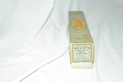 Antique Pianola, Player Piano Roll: O SOLE MIO (Meloto) 38071 Cornetto