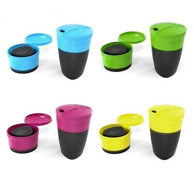 Light My Fire 260ml Pack Up Cup - Collapsible w/ Lid - Camping Hiking Office