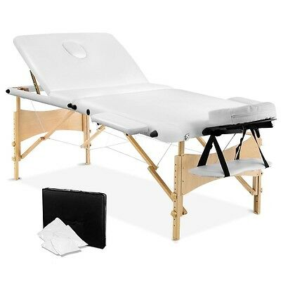 70cm Aluminium Portable MASSAGE Bed Table Chair 3 Fold Beauty Therapy Waxing Bed
