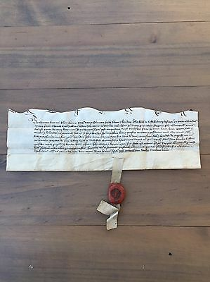 15th century vellum indenture document