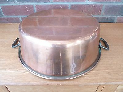 French Vintage Copper Jam Pan Cast Iron  Handles Weight 1.7kg