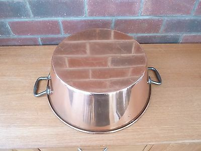 French Vintage Copper Jam Pan Cast Iron  Handles Weight 1.5kg