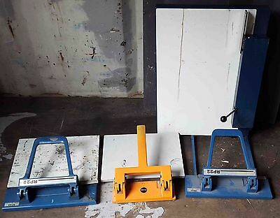 LITHO PLATE PUNCHES ( 5 in total ) JOBLOT