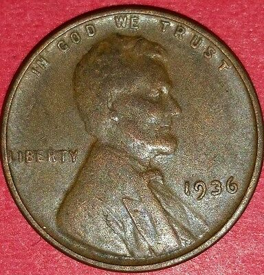 1936 Philadelphia Mint Lincoln Wheat Cent   ID #5-13