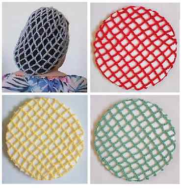 VINTAGE STYLE PERKY SNOODS IN VARIOUS COLOURS - HAND CROCHETED 1940s PATTERN