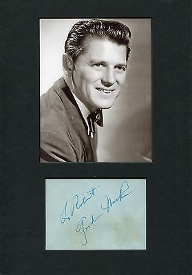 Entertainment Memorabilia Stage And Screen Musical Star Gordon Macrae Autograph