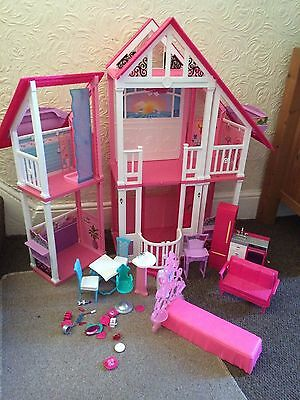 barbie california dream house playset with furniture
