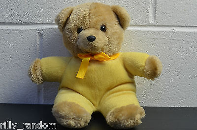 Small Yellow Teddy Bear Soft Toy Approx 25cm Tall