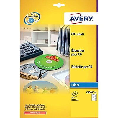 Avery C9660-25 Etichette Full-Face CD