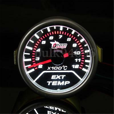 2'' 52Mm Car Led Exhaust Ext Gas Temperature Temp Egt Gauge Meter Pointer Sensor