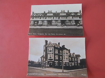 Tankerton (Whitstable) Kent:  2 Repro Photocards - Hotels