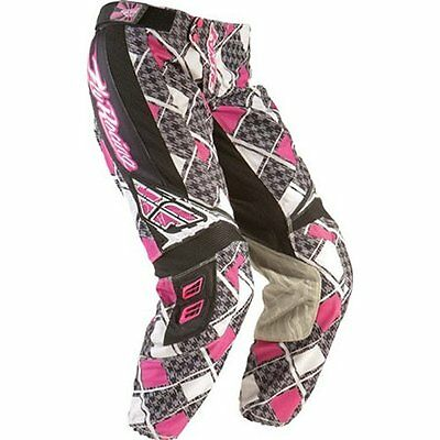 Fly Kinetic girls pink motocross/quad  pants size 20