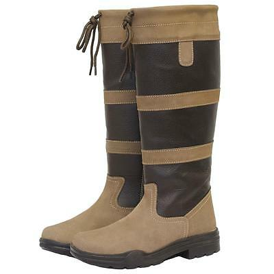 New Saxon Tall Leather Country Boots - Brown - Was £79.99