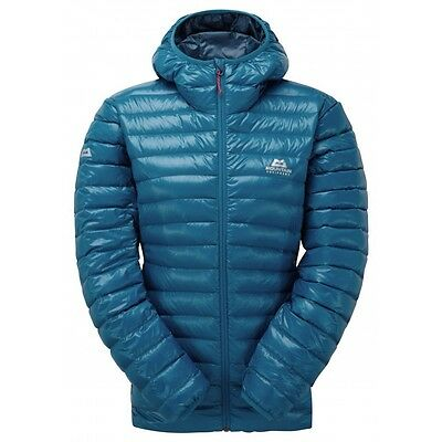 Mountain Equipment Women's Arete Hooded Insulated Down Jacket Lagoon Blue 12