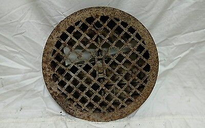 Antique cast iron heat vent air vent wall art