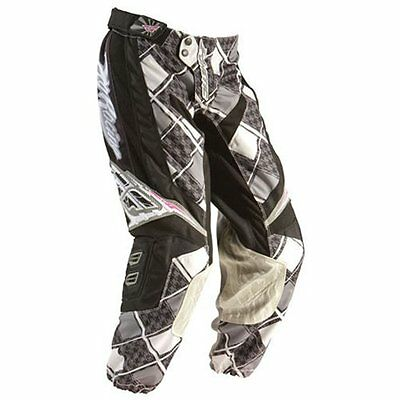 Fly Kinetic girls black/grey and pink motocross/quad  pants size 18
