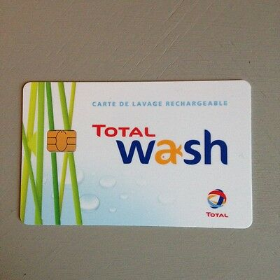 Carte lavage rechargeable. Total Wash. 42 euros.