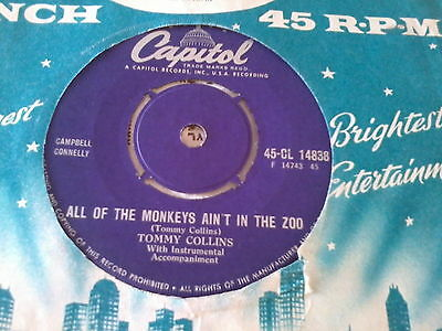 L@@k Tommy Collins All Of The Monkeys Ain't In The Zoo Capitol Rockabilly Ex+
