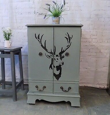 """Painted  Shabby Chic """" Stag """" Cabinet Cupboard"""