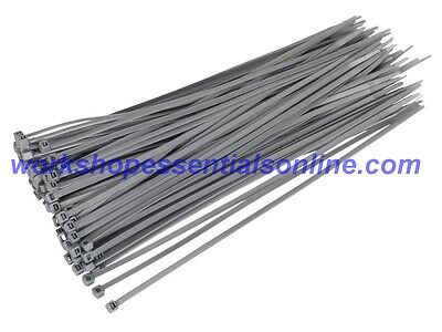 Cable Ties Strong Grey/Silver Ideal for Wheel Trims Various Sizes & Quantities