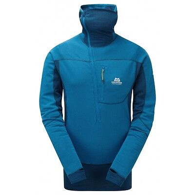 Mountain Equipment Eclipse L/s Hooded Zip Top Lagoon Blue Large Bnwt
