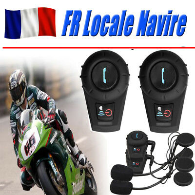 2x 500M Interphone Intercomunicador Bluetooth Casco Auriculares Moto Motocicleta