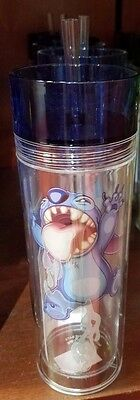 Disney Parks Lilo & Stitch Acrylic Tumbler With Straw Plastic Water Bottle New